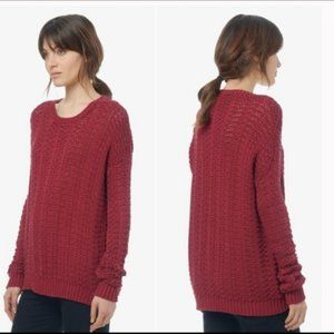 Vince Red Knit Oversized Sweater Size S